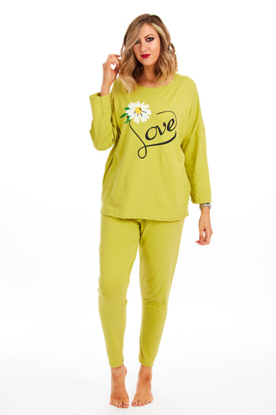 Daisy love spring lounge set - Lime