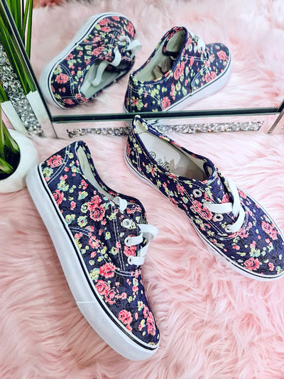 Ditsies floral pumps - Navy