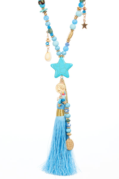 Bohemian star chain - Blue