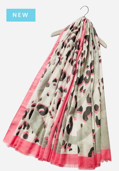 Andrea scarf - Pink/Grey