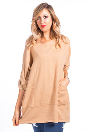 Ruth Loose fit top -  Biscuit