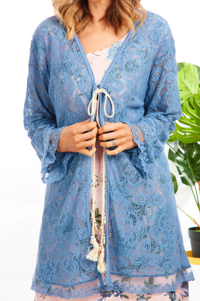 Boho lace jacket - Denim