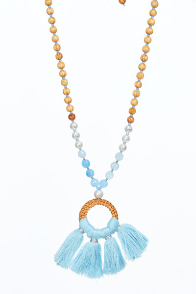 Señorita wooden beads - Blue