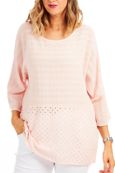 Whistledown cotton top - Ballerina Pink