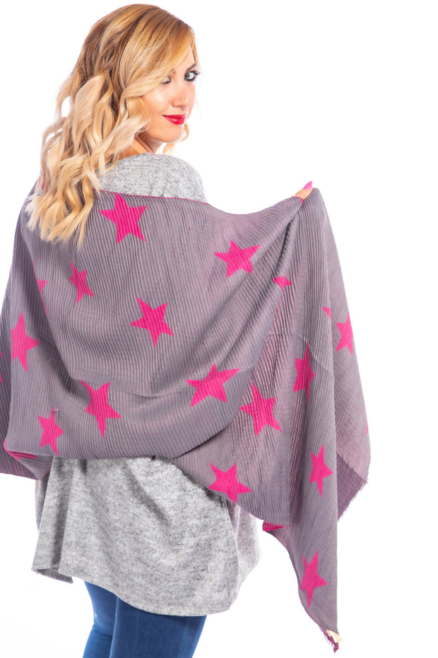 Reversible Star Shawl - Bubblegum