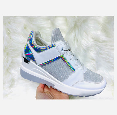 The 90's holographic trainers - Silver