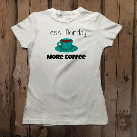 Less Monday More Coffee Graphic Tee - Women's - Grizzly Where