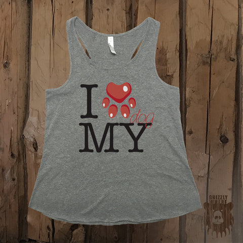 I Heart MY Dog Graphic Tank - Grizzly Where