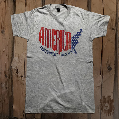 America Independent Since 1776 Graphic Tee - Unisex - Grizzly Where