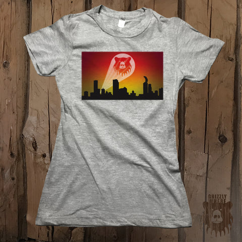 Bear Signal Graphic Logo Tee - Womens' - Grizzly Where