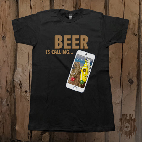 Beer Is Calling Graphic Tee - Unisex - Grizzly Where