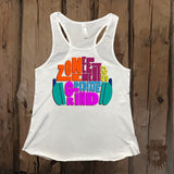 Motivational Headphone Grind Element Zone Graphic Tank - Grizzly Where