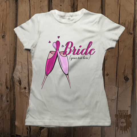 Customizable Team Bride Bachelorette Party Graphic Tee - Womens' - Grizzly Where