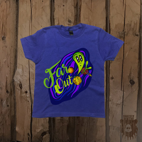 Far Out Alien Galaxy Graphic Tee - Youth - Grizzly Where
