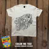 Far Out Alien Galaxy Color Me Tee - Youth - Grizzly Where