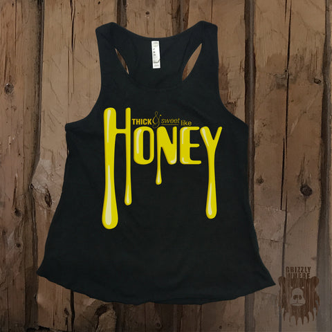Thick & Sweet Like Honey Graphic Tank - Grizzly Where