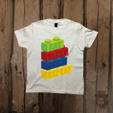Eat Sleep Build Repeat Graphic Tee - Youth - Grizzly Where