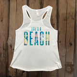 Life's A Beach Graphic Tank - Grizzly Where