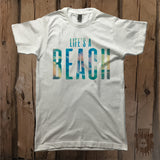 Life's A Beach Graphic Tee - Unisex - Grizzly Where