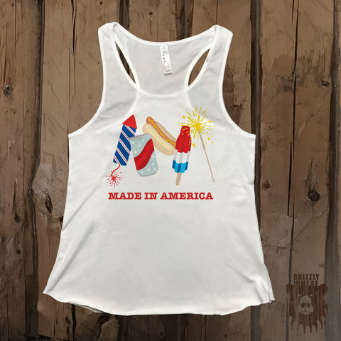 Made In America Party Graphic Tank - Grizzly Where