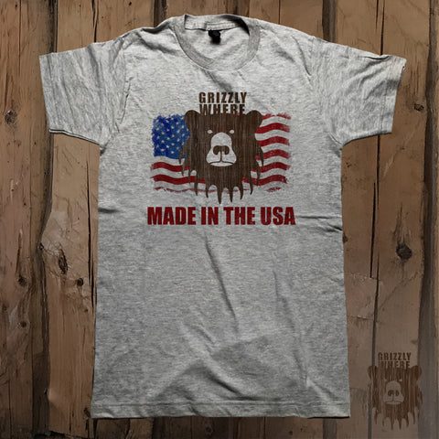 Grizzly Where Made In The USA Graphic Tee - Unisex - Grizzly Where
