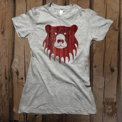 Pixel Explosion Graphic Logo Tee - Womens' - Grizzly Where