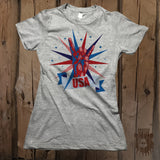 Rock On USA Graphic Tee - Womens' - Grizzly Where