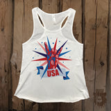 Rock On USA Graphic Tank - Grizzly Where