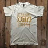 Straight Outta Coffee Graphic Tee - Unisex - Grizzly Where
