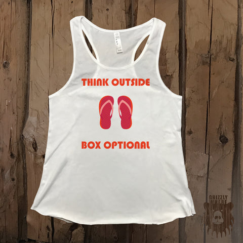 Think Outside Box Optional Graphic Tank - Grizzly Where
