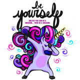Be Yourself Unicorn Graphic Tee - Youth - Grizzly Where