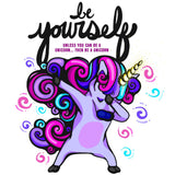 Be Yourself Unicorn Graphic Tee - Womens' - Grizzly Where