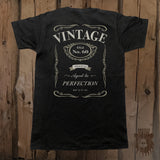 Aged To Perfection Vintage Customizable Graphic Tee - Unisex - Grizzly Where