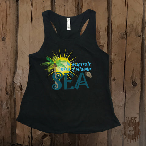In Desperate Need Of Vitamin Sea Graphic Tank - Grizzly Where