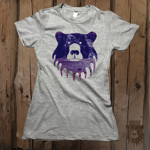 Waterfall Bear Graphic Logo Tee - Womens' - Grizzly Where