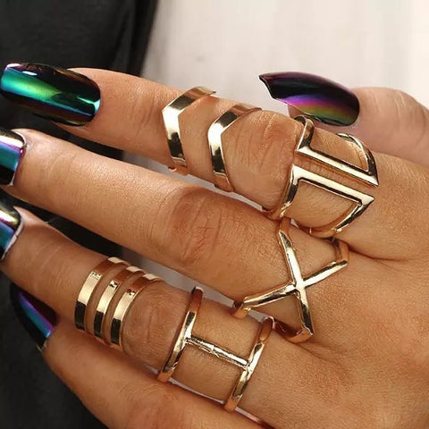 Marie MW Knuckle Rings Set