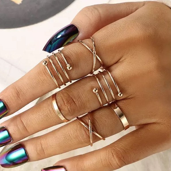 Elena PK Knuckle Rings Set