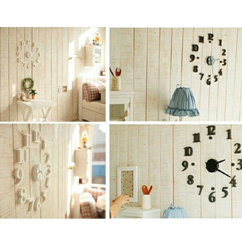 Creative DIY Adhesive Figure Wall Clock for Home Decoration