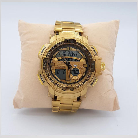 JF Gold Digital WristWatch