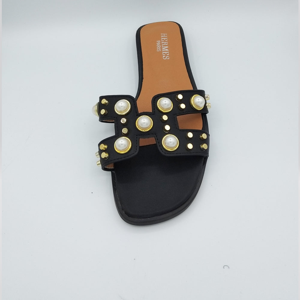 Katie Hermes Luxury Slippers (Black)