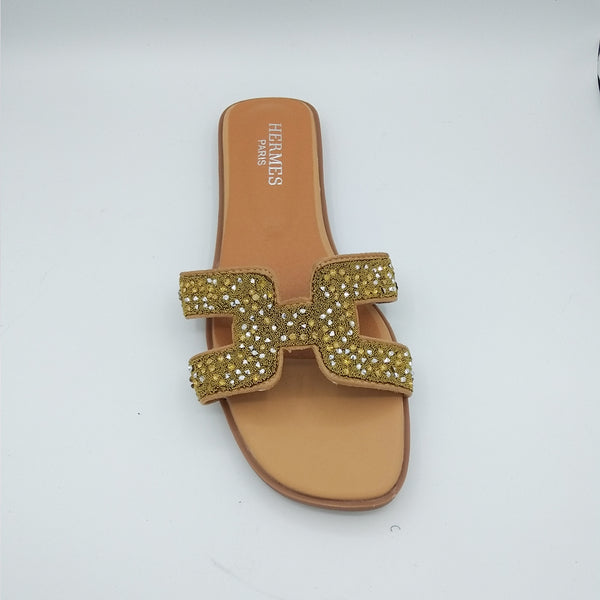 Katie Hermes Luxury Slippers (Lemon Crystal)