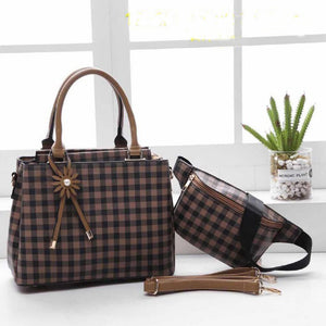 Mitchella WB Checkered Bag for Women (Brown)