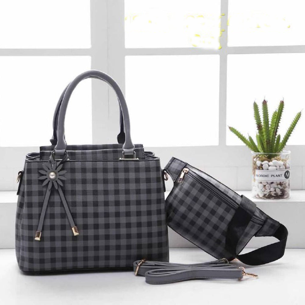 Mitchella WB Checkered Bag for Women (Grey)