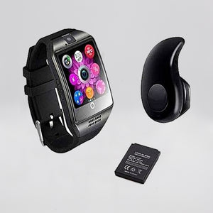 Q18 Smartwatch With SIM & Memory Card Support For Android & IOS Devices + Free S530 Bluetooth Earphone