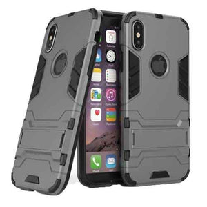 iPhone X Armor Kick-Stand Case-Grey