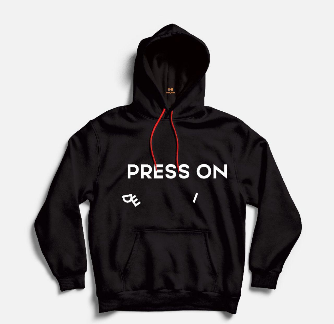 Press On Hoodie (Black)