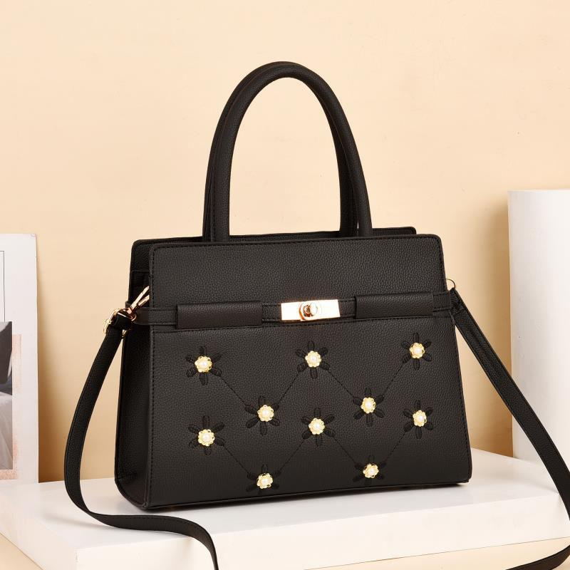 Duchess Rose Bag for Women - Black