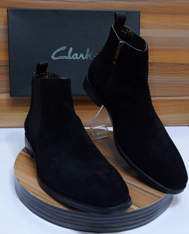 Clarks Luxus Chelsea Boot For Men (Black)