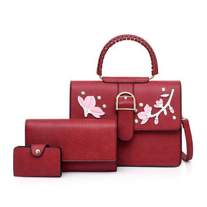 Vana Masha Classic Hand Bag - Red