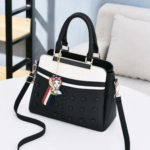 Melisa Dina Classic Female Handbag - Black